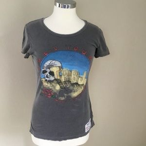 True Religion Distressed & Fitted Short-Sleeve Tee